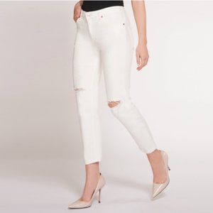 Dex Nixon Boyfriend Jeans White 26 NEW